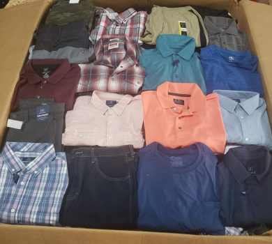 Bulk Men Clothing liquidation pallets