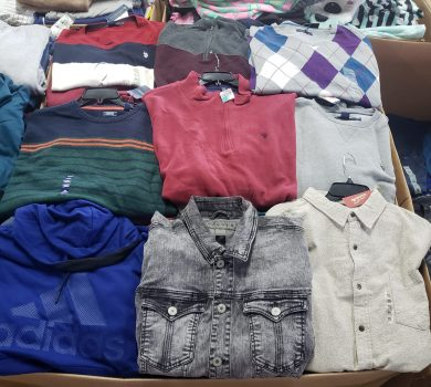 Fall winter clothing pallets