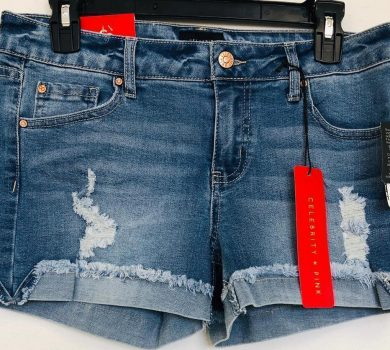 Women blue denim shorts liquidation pallets Bulk